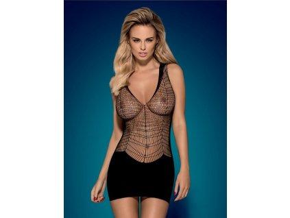 Košilka D603 dress - Obsessive (Barva Černá, Velikost S/M/L)