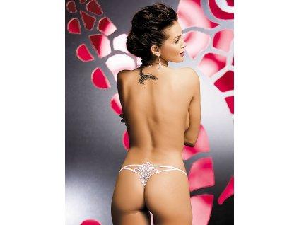 # Tanga Luiza thong white - Obsessive (Barva Bílá, Velikost L/XL)