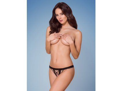 # Sexy tanga otevřená 865 - THC - Obsessive (Barva Černá, Velikost L/XL)