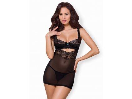 # Krásná košilka 867 - CHE - Obsessive (Barva Černá, Velikost L/XL)