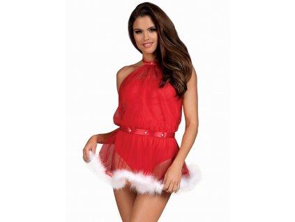 # Nezbedný kostým Santastic dress - Obsessive (Barva Červená, Velikost L/XL)