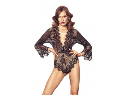 # Luxusní body Celestia - Anais (Barva Černá, Velikost XXL/XXXL)