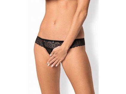 # Žhavá tanga Shibu crotchless thong - Obsessive (Barva Černá, Velikost L/XL)