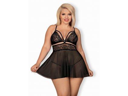 # Nádherná košilka 838 - BAB black XXL - Obsessive