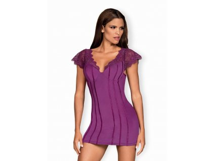 # Výjimečná košilka Moketta chemise purple - Obsessive