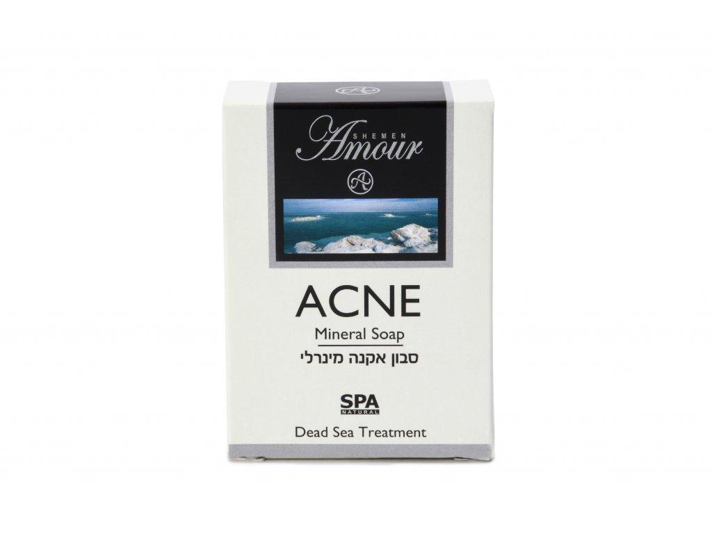 Shemen Amour ACNE MINERAL SOAP Minerálne mydlo na tvár na akné s bahnom z Mŕtveho mora 125g