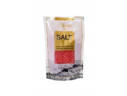 Shemen Amour DEAD SEA MINERAL SALT Minerálna soľ do kúpeľa z Mŕtveho mora - ruža 300g