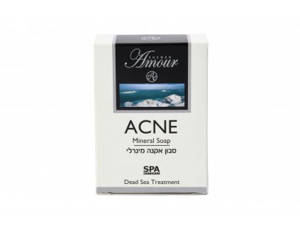 Shemen Amour ACNE MINERAL SOAP Minerálne mydlo na tvár na akné s bahnom z Mrtvého mora 125g
