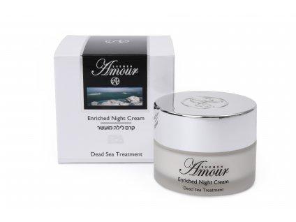 Shemen Amour ENRICHED NIGHT CREAM Vyživujúci nočný krém na tvár s kyselinou hyalurónovou a jojobovým olejom 50ml