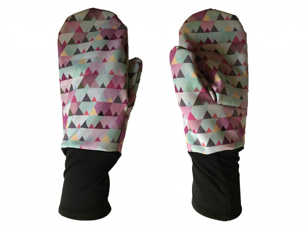 rukavice hory růžová