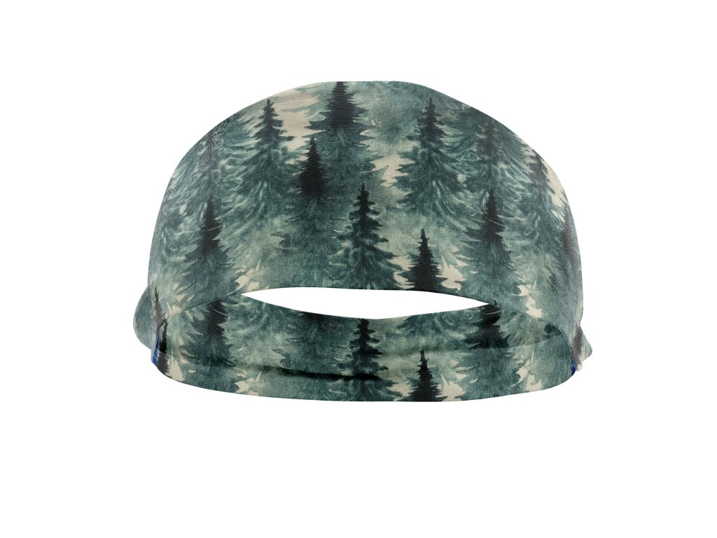 bavlněná čelenka anywhere les šedý