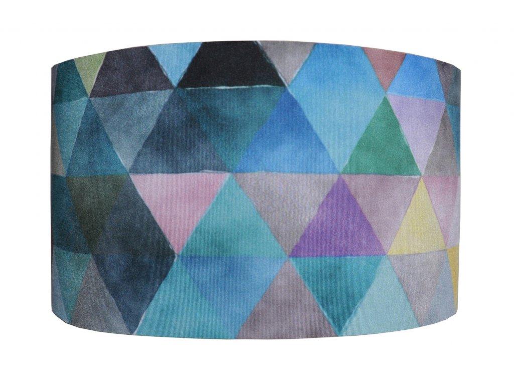 funkční čelenka anywhere trojuhelniky modrá