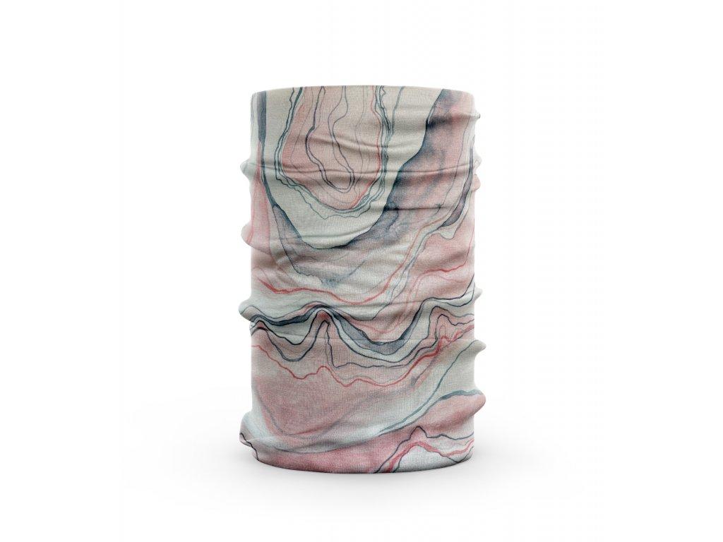 bavlněný nákrčník anywhere mramor