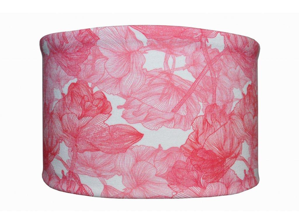 bavlněná čelenka růžové květy
