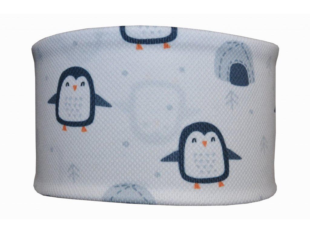 funkční čelenka anywhere tučnaci bílá