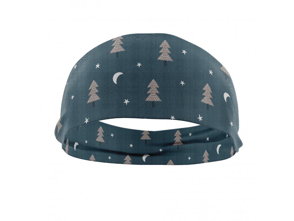 bavlněná čelenka anywhere stromy
