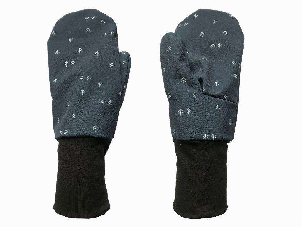 rukavice anywhere jemné stromy modrá