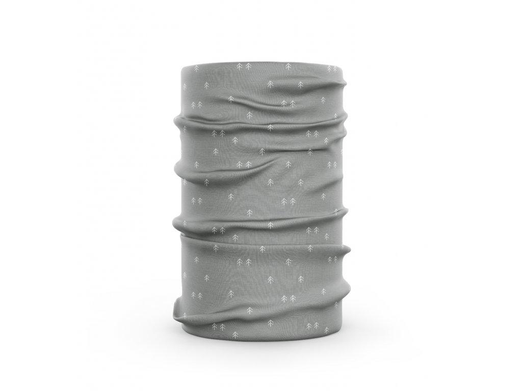 bavlněný nákrčník anywhere jemné stromy šedá
