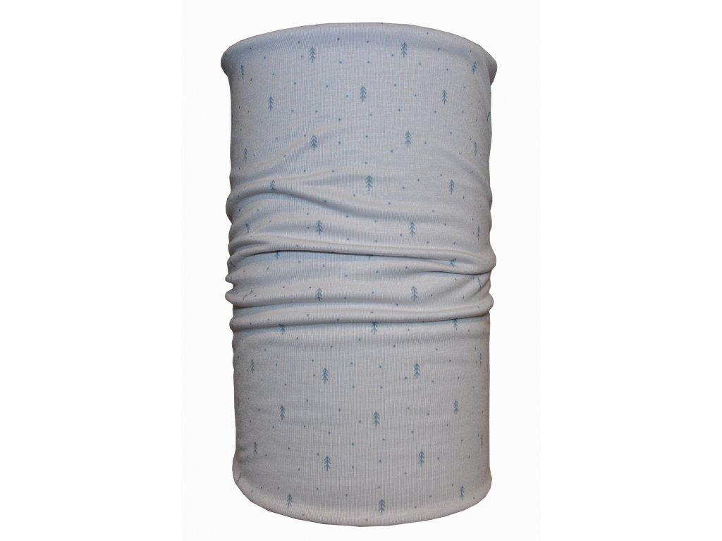 nákrčník anywhere jemné stromy bílá tečky