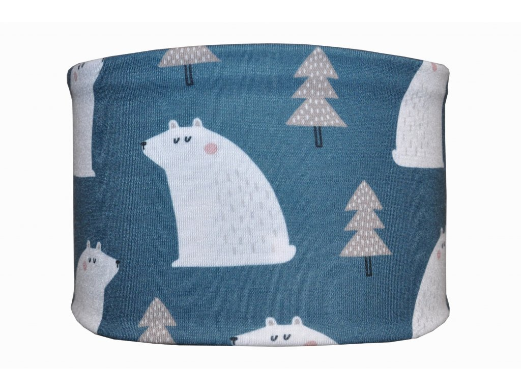 bavlněná čelenka anywhere lední medvěd