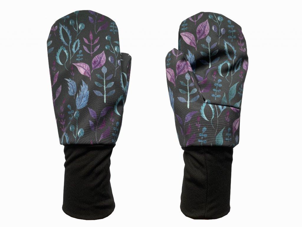 rukavice anywhere lístky na černé