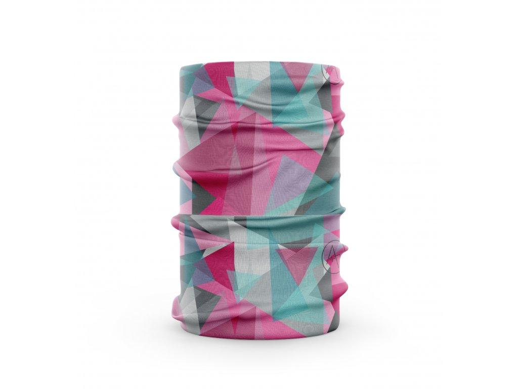 bavlněný nákrčník anywhere geo ružová tyrkyas