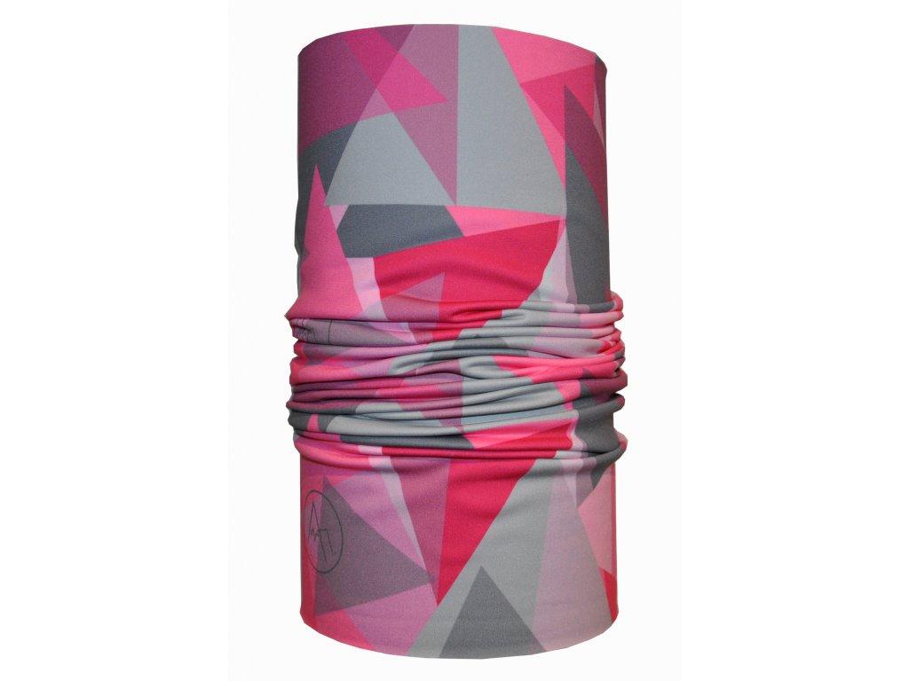 funkční nákrčník geometric růžová
