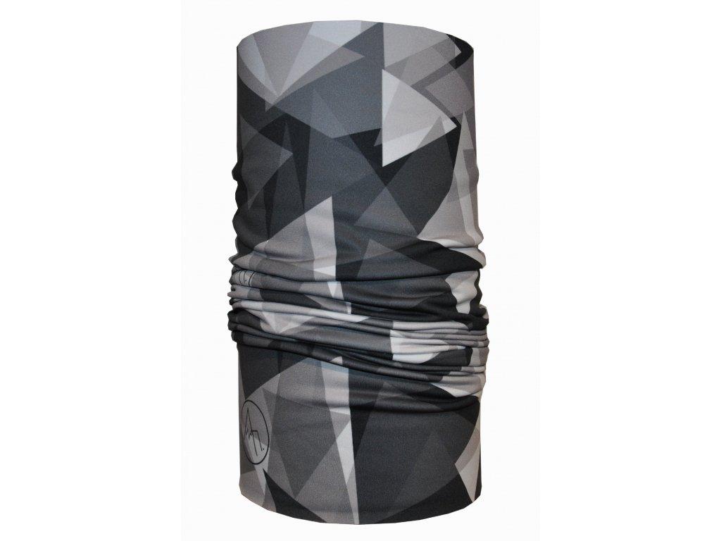 funkční nákrčník anywhere geometric černá