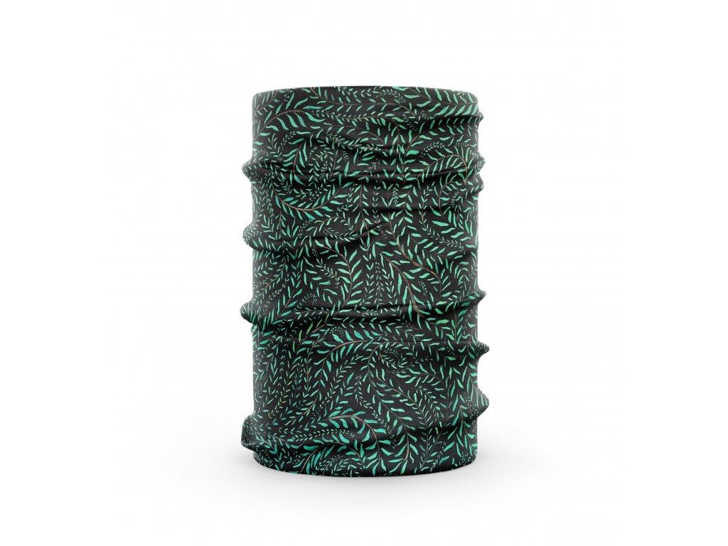 bavlněný nákrčník anywhere zelené lístky