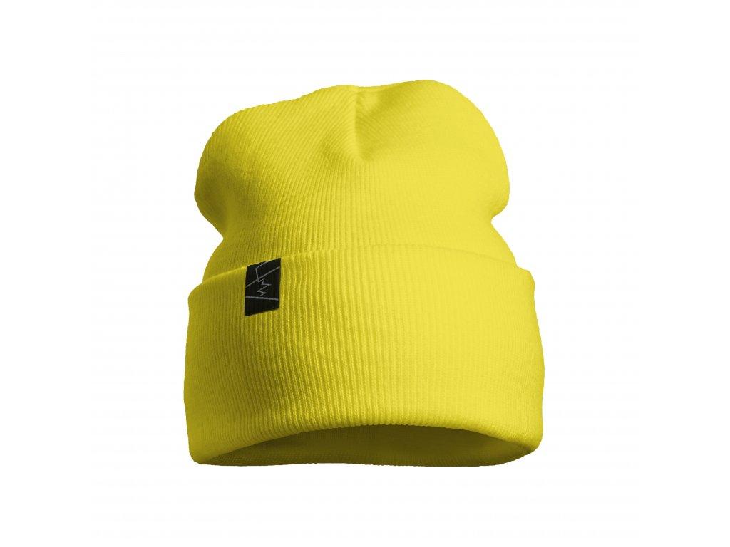 žebrovaná čepice anywhere žlutá