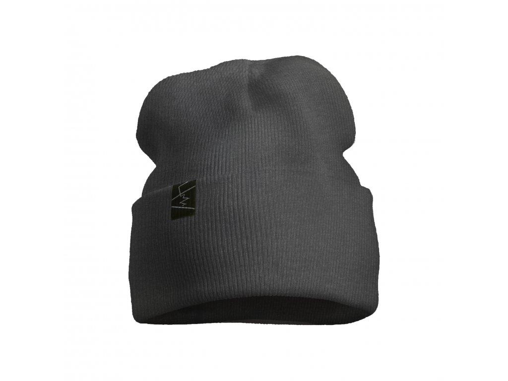 žebrovaná čepice anywhere šedá
