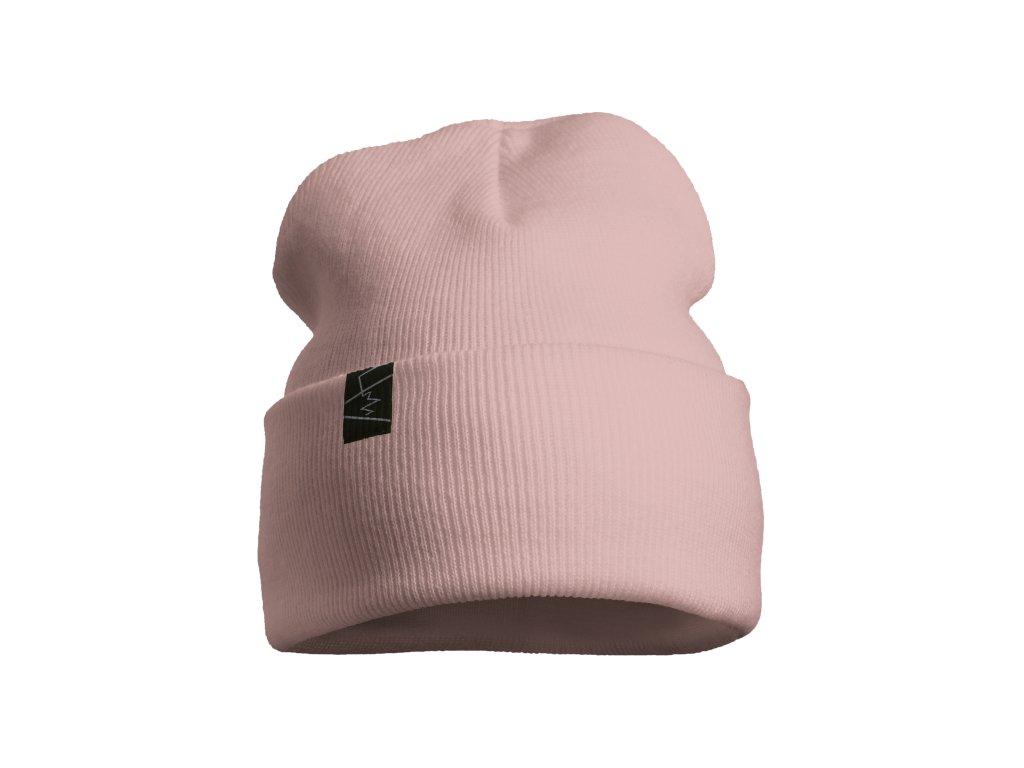 žebrovaná čepice anywhere světle růžová