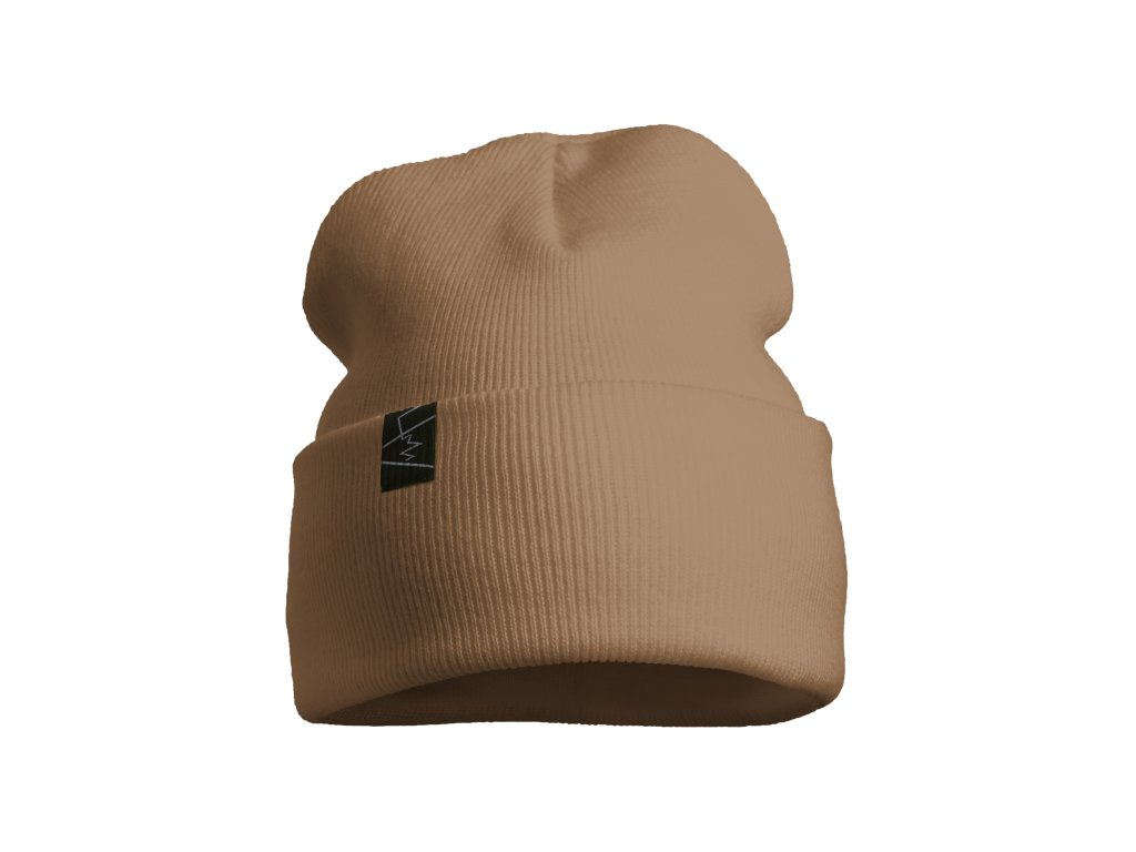žebrovaná čepice anywhere hnědá