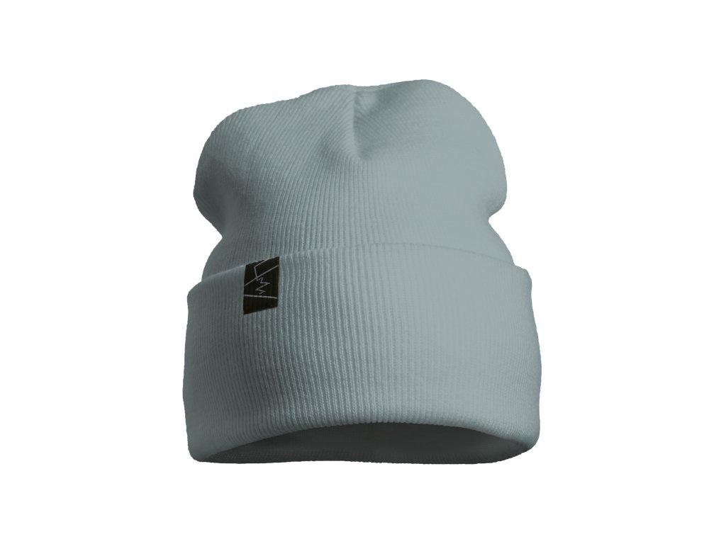 žebrovaná čepice anywhere šedozelená světlá