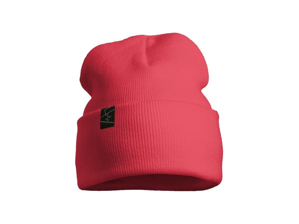 žebrovaná čepice anywhere korálová