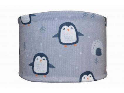 bavlněná čelenka tučnaci šedá