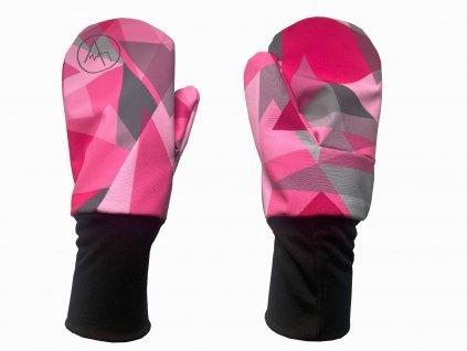 rukavice anywhere růžová