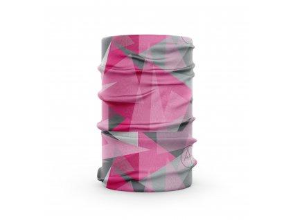 bavlněný nákrčník anywhere geo růžová