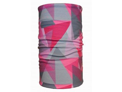 bavlněný nákrčník anywhere geo ružová