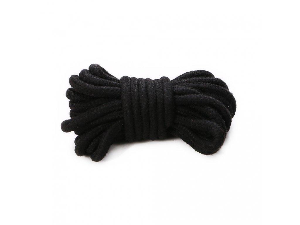 BDSM bavlněné bodage lano 5 m černé