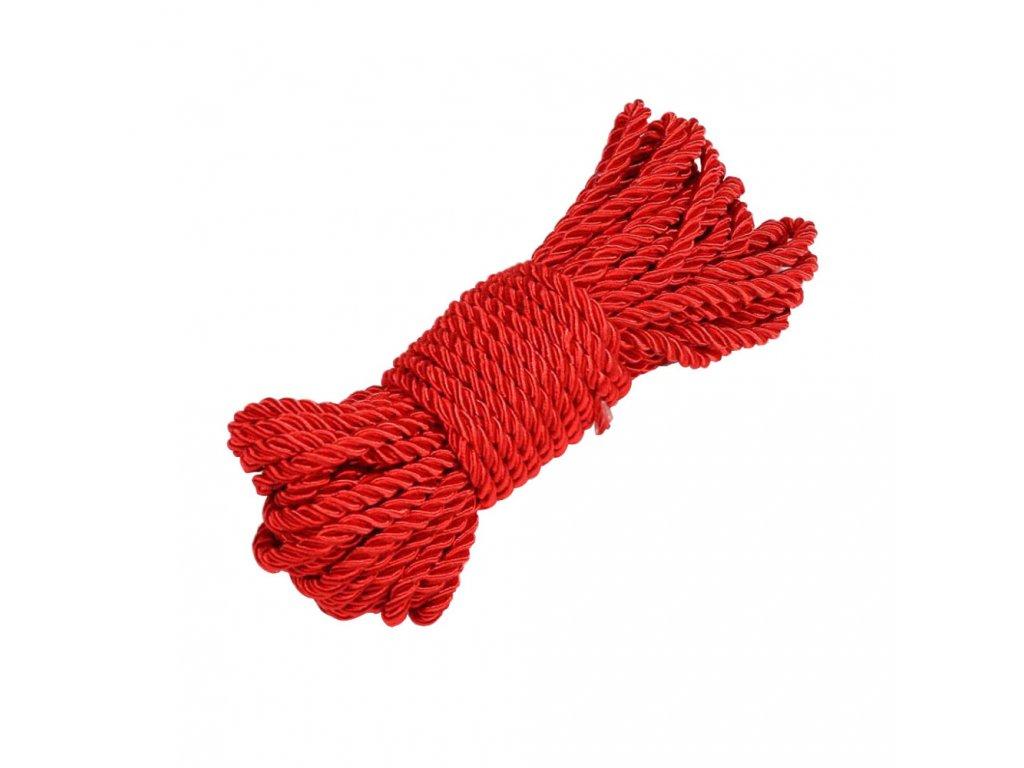 BDSM bavlněné bodage lano 10 m červené lesklé