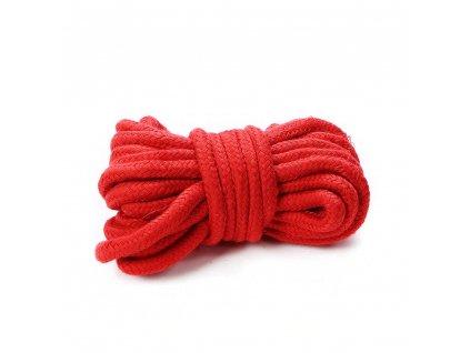 BDSM bavlněné bodage lano 5 m červené