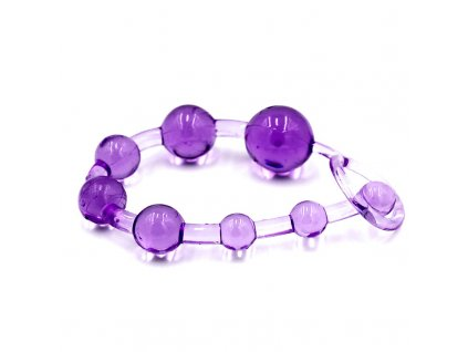 Silikonové anální korále 10 balls fialove