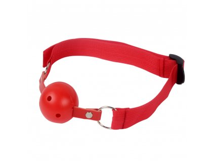 roubik breathable ball gag cerveny