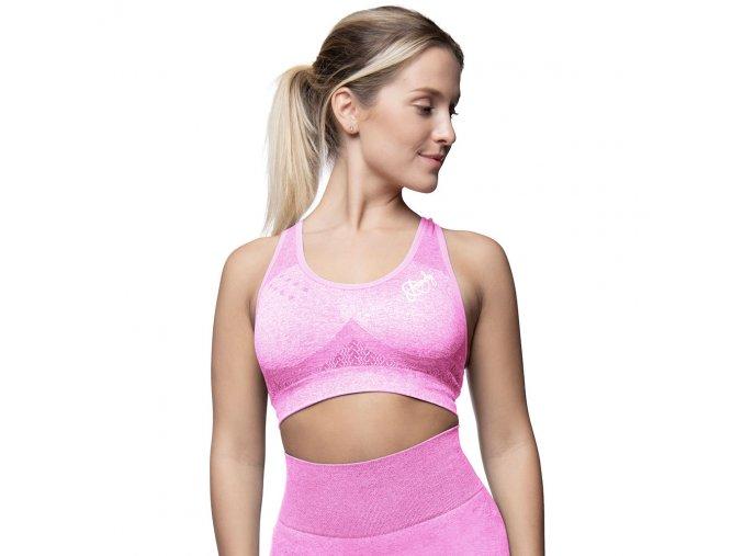 anarchy apparel seamless sports bra wabisabi pink