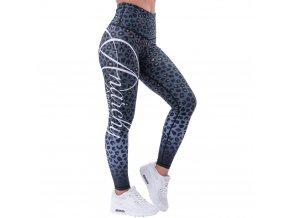 anarchy apparel leggings leopardess gruen schwarz