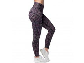 Cushy, dámské fitness legíny, pevný materíál, vysoký pas, černá/ružová