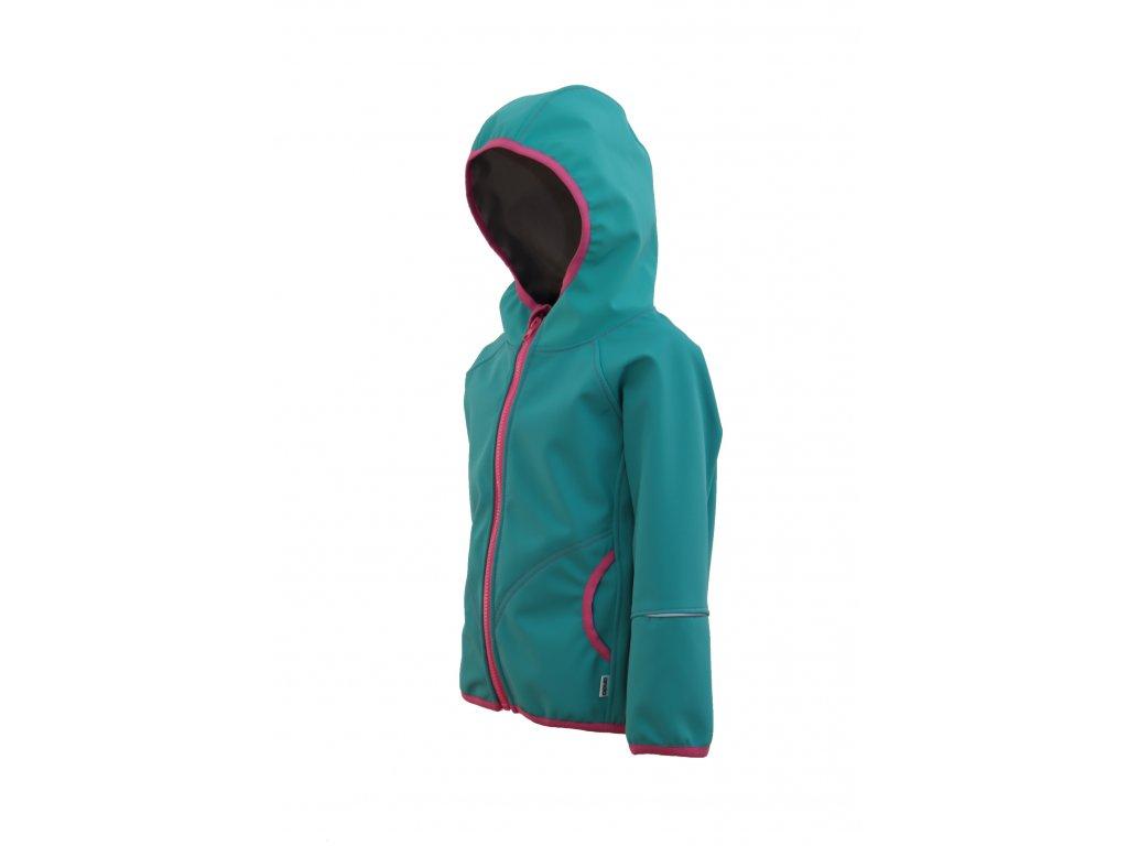 Dětská softshellová bunda s fleecem
