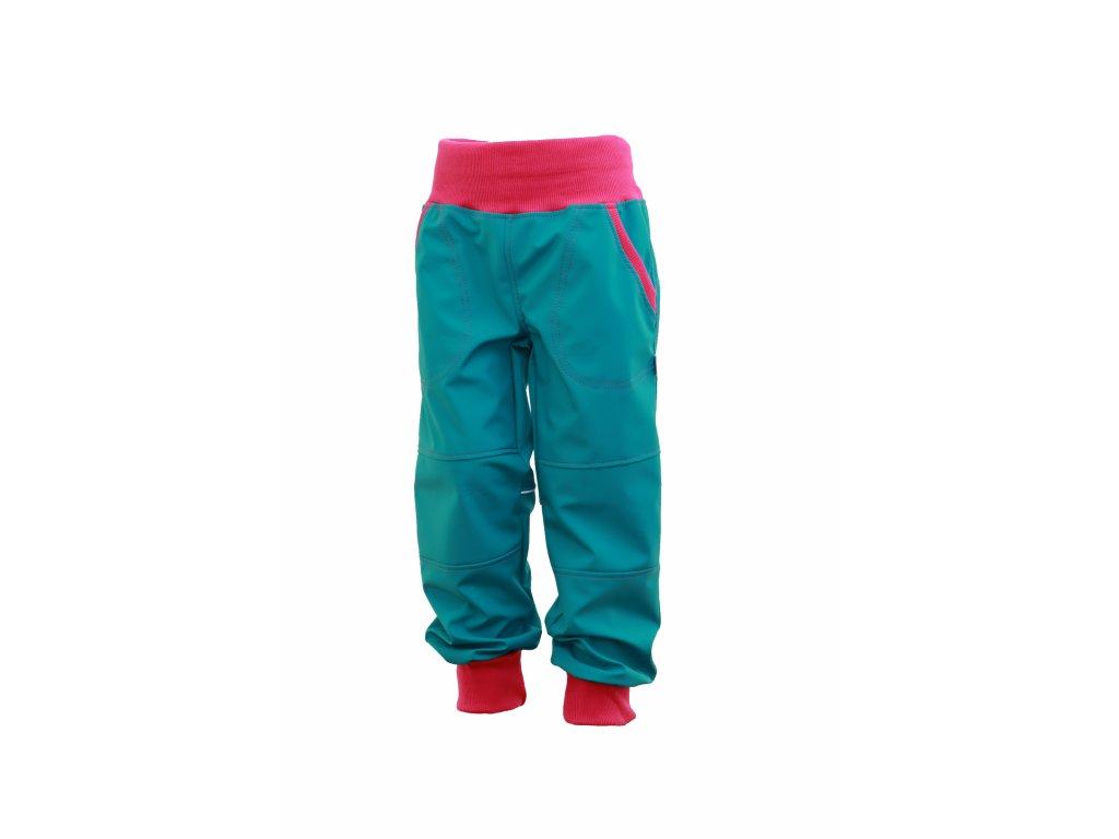 Dětské softschellové kalhoty s fleecem