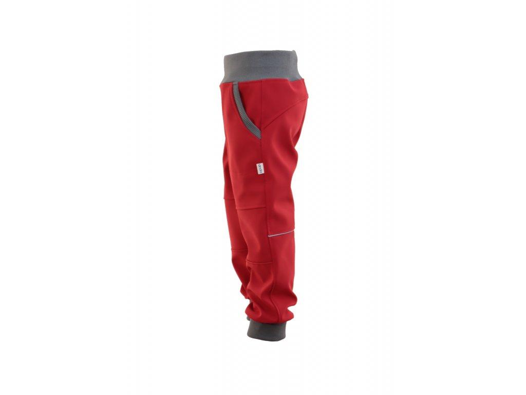 Softky s fleecem červené
